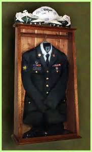 Navy Military Uniform Display Case