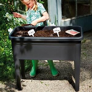 Carré Potager Gamm Vert : carr potager sur pieds avec cloche elho l76 h65 1 cm noir ~ Dailycaller-alerts.com Idées de Décoration