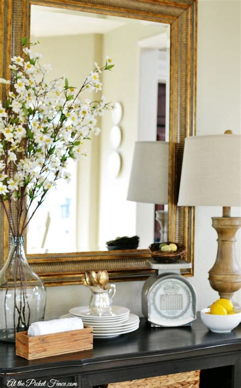 Decorating A Sideboard by Easy Budget Friendly Decorating At The Picket Fence