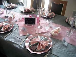 Deco Table Rose Et Gris : deco bapteme rose gris blanc ~ Melissatoandfro.com Idées de Décoration
