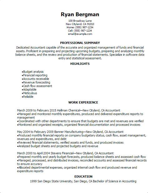 accounting finance resume templates  impress