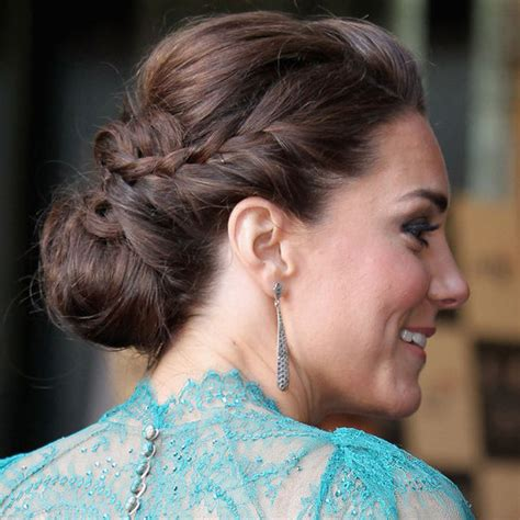 kate middleton braided updo hairstyle