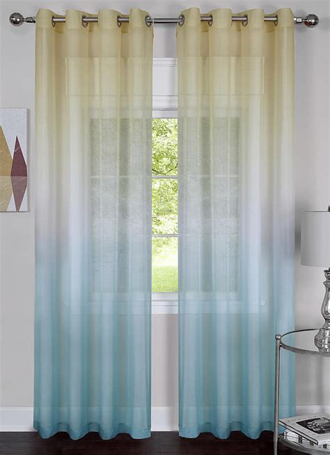 blue sheer curtains rainbow grommet curtains blue sheer semi sheer curtains