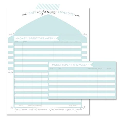 tracking your expenses free printable