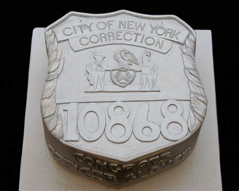 york correction officer badge  cake cake  cup ny