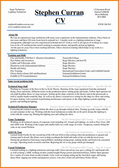 It Cv Template by 5 Cv Sle Word Document Theorynpractice
