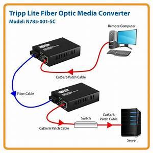 Amazon Com  Tripp Lite Fiber Optic Gig Media Converter Utp Gigabit Ethernet To Fiber  N785