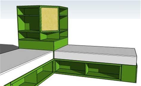 space saving diy corner unit  twin storage bed