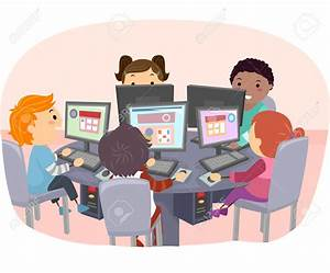 Computer clipart school computer - Pencil and in color ...