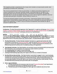 product license agreement template - band agreement template