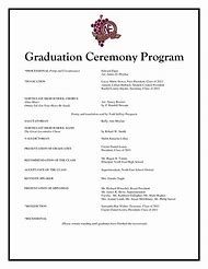 graduation ceremony program template