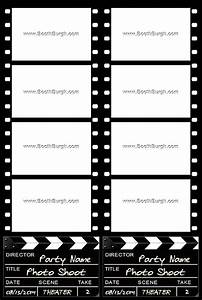 filmstrip and clapper board photo booth printer template With photo booth template psd