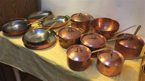 paul revere  signature limited edition  piece copper cookware collection ebay copper
