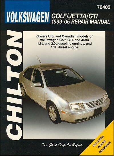car manuals free online 1999 volkswagen gti regenerative braking volkswagen golf jetta gti repair and service manual 1999 2005 ebay