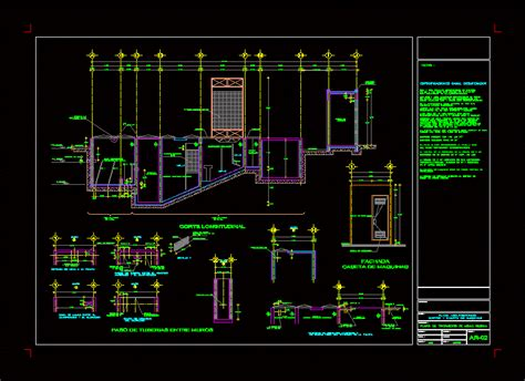 court wastewater treatment plant wwtp dwg section