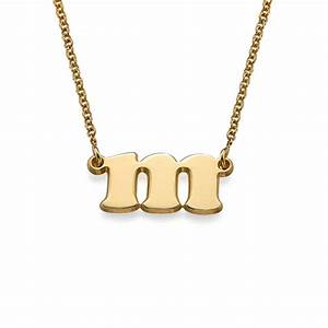 small initial necklace in 18k gold plating mynamenecklace With small gold letter necklace
