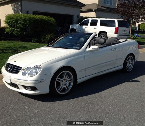 convertible mercedes black 2005 mercedes benz clk55 amg convertible white black