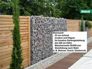 Gabionenzaun Mit Holz : gabionen steincenter ahaus steincenter ahaus ~ Lizthompson.info Haus und Dekorationen