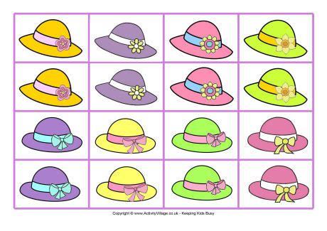Easter Bonnet Concentration Game