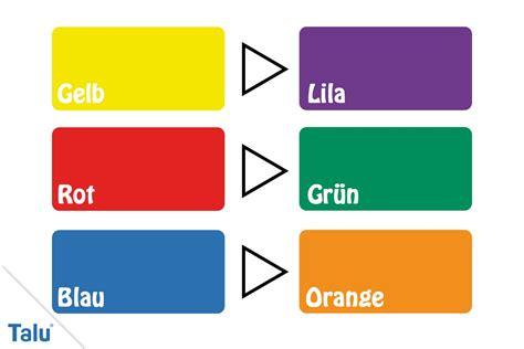 Farben Die Zusammenpassen by Komplement 228 Rfarben Definition Farben Richtig