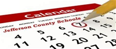 jefferson county schools calendar includes full week
