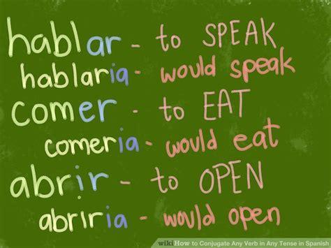 conjugate  verb   tense  spanish  steps