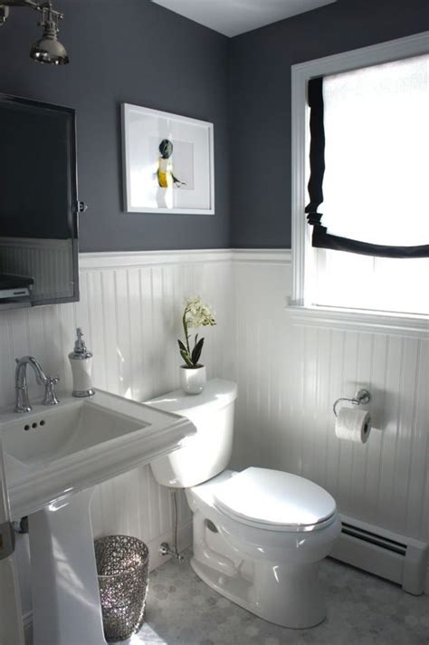 bathroom ideas   classic black  white scheme