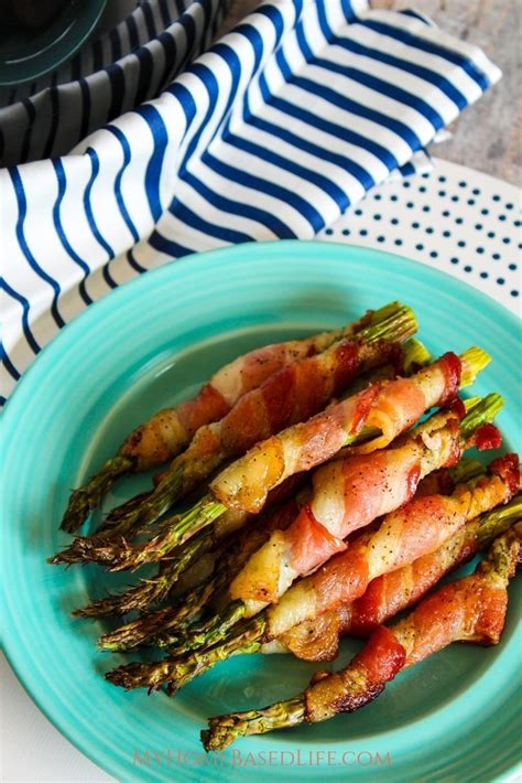 air fryer asparagus bacon recipe wrapped minutes recipes myhomebasedlife airfryer looking cook