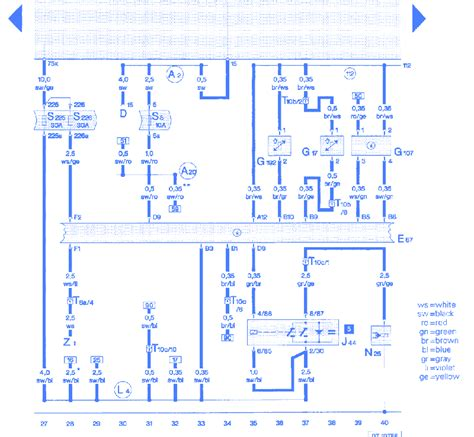 Audi Wiring Diagram 1999 by Audi A6 Quattro 2 8 1999 The Electrical Circuit