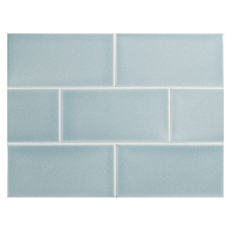 Light Blue Ceramic Subway Tile by Vermeere Ceramic Tile Blue Crackle 3 Quot X 6 Quot Subway Tile