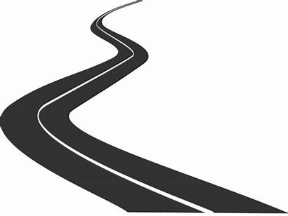 Road Clipart Pathway Background Highway Zigzag Transparent