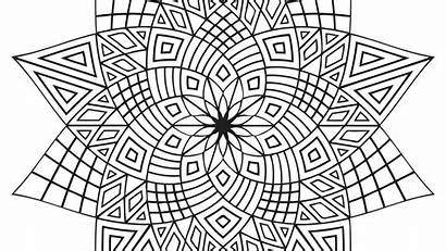 Coloring Patterns Pages Islamic Geometric Printable Colouring