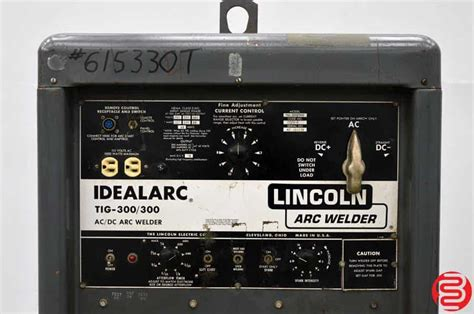 lincoln idealarc  tig arc welder boggs equipment