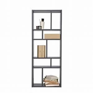 Bibliothèque Peu Profonde : biblioth que grise 10 niches margriet couleur gris achat ~ Premium-room.com Idées de Décoration