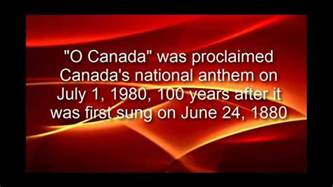 "Image result for 1980 - ""O Canada"""