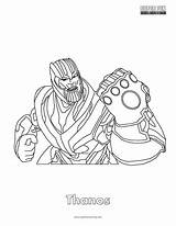 Fortnite Coloring Pages Cool Thanos Gauntlet Infinity Super Spiderman Printable Sheets Superfuncoloring sketch template