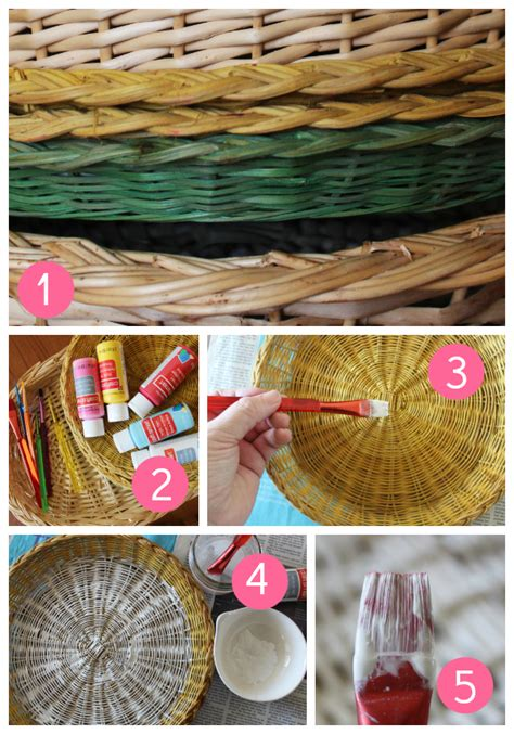 The best places to find decorative wall baskets   brepurposed. Painted Basket Wall Art   Skip To My Lou