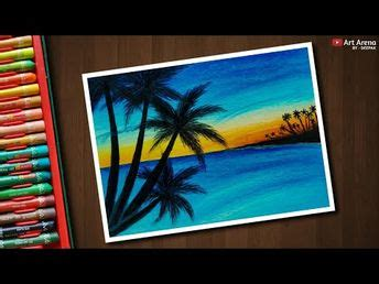 Sunset Drawing Oil Pastel | Free download on ClipArtMag