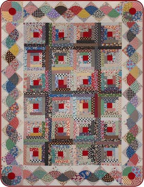 patchwork cabin log cabin quilt with interesting border quilt borders