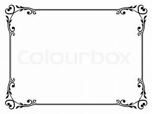 Umrandungen Vorlagen Kostenlos : kalligraphie ornamentalen dekorativen vektorgrafik colourbox ~ Orissabook.com Haus und Dekorationen
