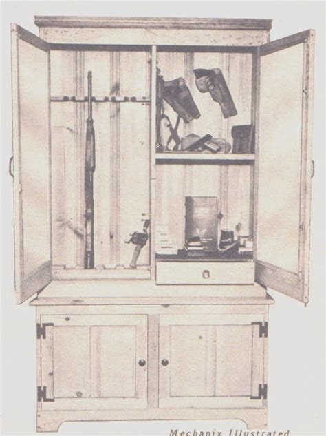 Free Wooden Gun Cabinet Plans by Gun Cabinet Plans