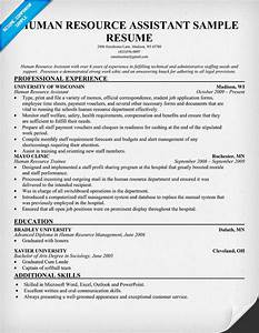 Human Resource Assistant Resume resume panion HR