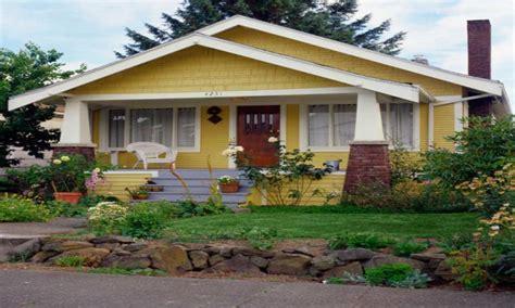 1920s craftsman bungalow yellow craftsman bungalow
