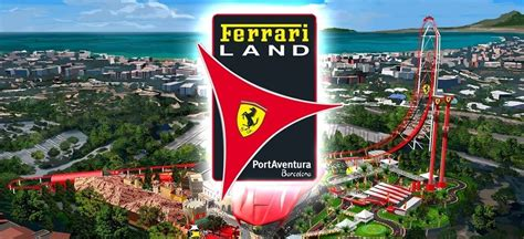 brand  ferrari land  port aventura theme park spain