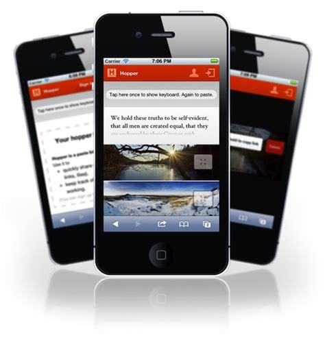apps between iphones easily paste from iphone to desktop with hopper