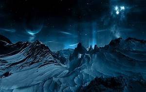 Mountains outer space planets wallpaper | 1920x1200 ...