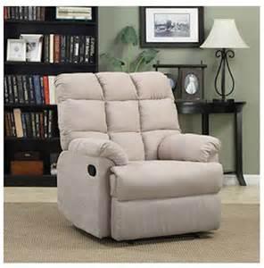 armchair recliner chair a large rocking overstuffed wall hugger microfiber non leather rocker