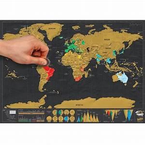 Carte Du Monde à Gratter Maison Du Monde : carte gratter au format voyage ~ Teatrodelosmanantiales.com Idées de Décoration