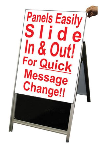 2 inch letters for changeable sidewalk signs wood a frame 24 quot x60 quot sidewalk signs w letter track panels 61927