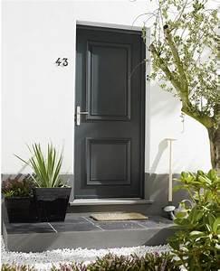 prix d39une porte d39entree en aluminium 2018 travauxcom With porte d entrée alu avec rénovation carrelage salle de bain